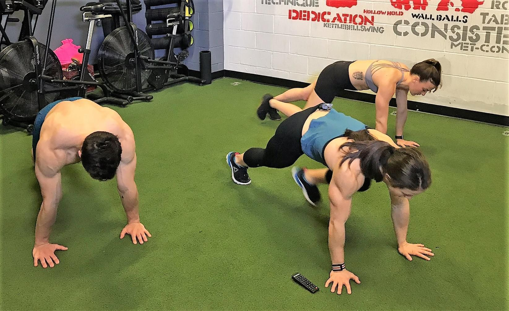 Mountain Climber exercise in the PowerAbs Workout with Kari Pearce