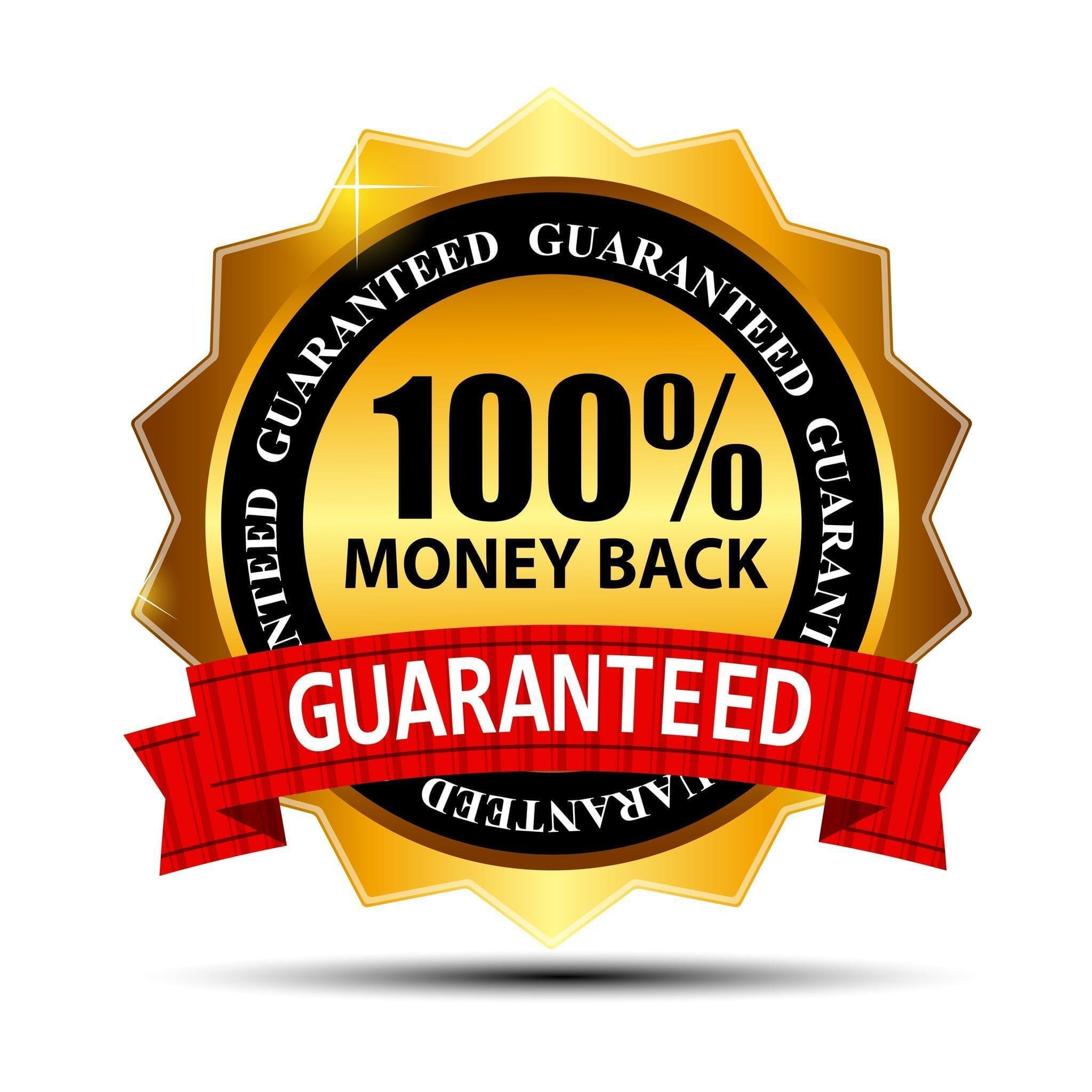 100% Money Back Guaranteed Seal